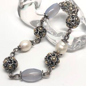 John Hardy .925/18K Jaisalmer Chalcedony Bracelet